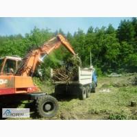 Уборка и расчистка участка, территории- удаление деревьев, травы, камней