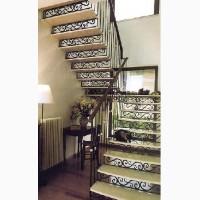 Лестницы из черного металла, с коваными элементами
