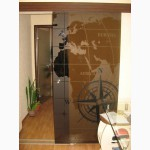 Стеклянные двери и перегородки из стекла каленого