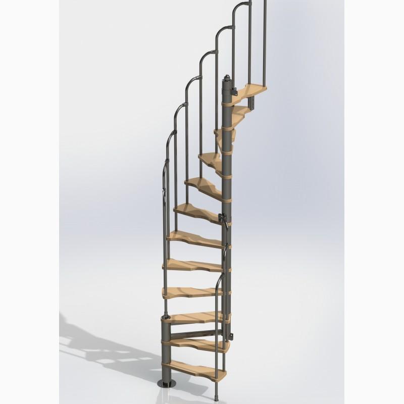 Фото 2. Лестницы изменяемой планировки винтовые двухшпиндельные Варио