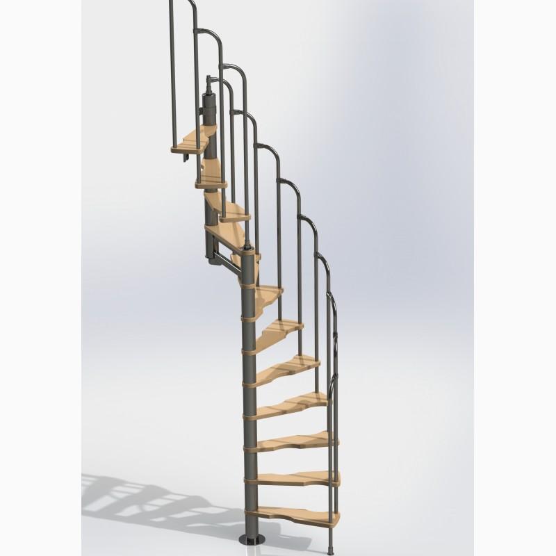 Фото 3. Лестницы изменяемой планировки винтовые двухшпиндельные Варио