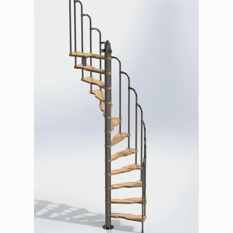 Фото 4. Лестницы изменяемой планировки винтовые двухшпиндельные Варио
