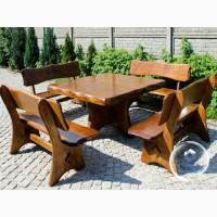 Комплект мебели из дерева для улицы