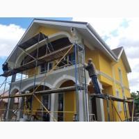 Утепление фасадов зданий пенопластом. Декоративные штукатурки (барашек, короед, мозаика)