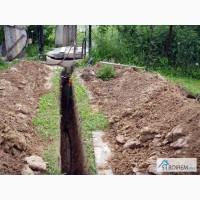 Выкопать траншею под воду, газ, свет Киев, киевская область