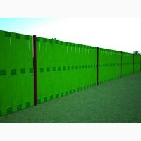 Забор дешево до вашого паркану, профнастил кольоровий