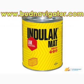Матовый полиуретановый лак для дерева на водной основе (аквалак) INDULAK MAT, чешский