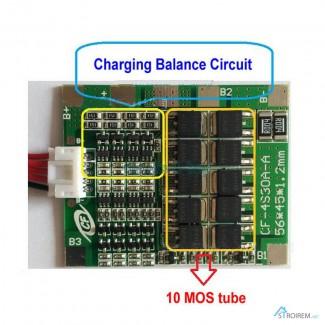 BMS 4S 30-70А 14.8V Контроллер заряда разряда с балансиром плата защиты Li-Ion