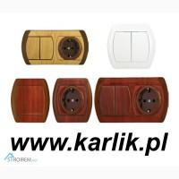 Выключатели, кнопки, розетки ТМ Karlik (Польша) оптом в Украине