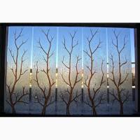Витражи с эффектом колотого льда, на зеркале и стекле