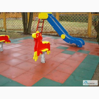 Травмобезопасное резиновое покрытий для детских площадок