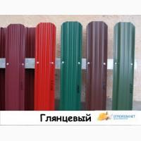 Штакетник металлический для забора, Глянцевый, ширина 115мм, 17 цветов
