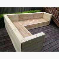Комплект мебели для дачи. Садовый набор из дерева. Дачная мебель