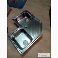 Продается двойная угловая кухонная мойка из нержавейки