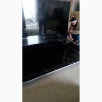 Черный испанский мрамор в слябах с белыми прожилками, толщина 30 мм. Мрамор испанский