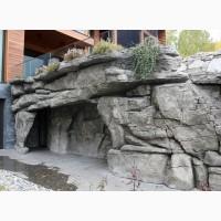 Штукатурка декор камина. Камень из бетона. Арт бетон