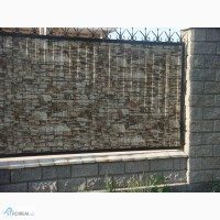 Профнастил с рисунком камня стоимость. Забор и крыша из профнастила