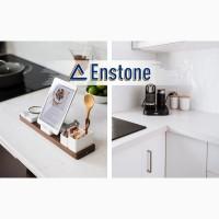 Столешница из искусственного камня с литой мойкой на кухню