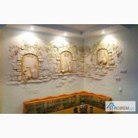 Отделка стен декоративной штукатуркой в Киеве и Киевской области