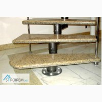 Мраморные ступени, облицовка лестниц мрамором - 1 500 грн