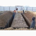 Выкопать траншею под ленточный фундамент Киев, киевская область