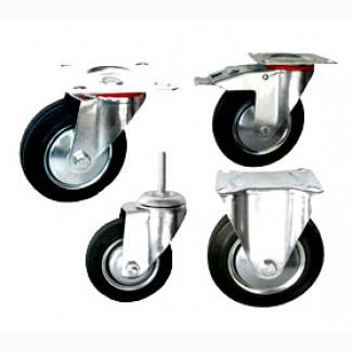 Колёса и ролики с контактным слоем из стандартной черной резины